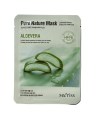 Фото - SECRISS Тканевая маска для лица Алое Вера SECRISS PURE NATURE MASK ALOEVERA